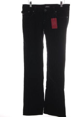 Rock & Republic Pantalone di velluto a coste nero stile casual