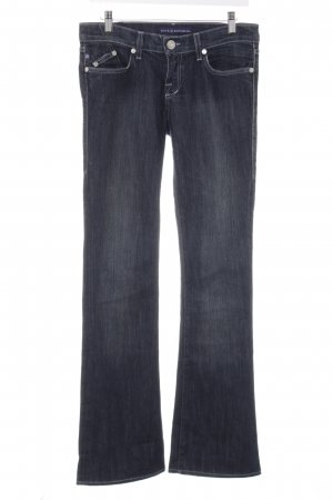 Rock & Republic Hüftjeans dunkelblau-graublau Washed-Optik