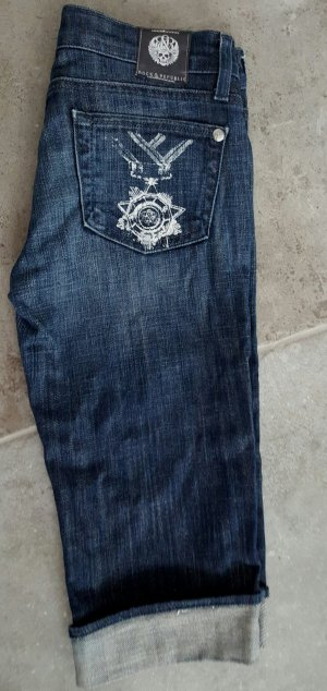 Rock & Republic Bermudas dark blue-white cotton