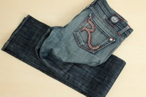 ROCK & REPUBLIC Jeans Gr 25 passt bei Gr. S/36