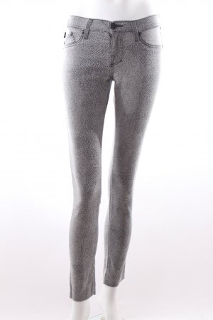 Rock & Republic Skinny Jeans grau mit Animalprint