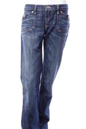 Rock & Republic Slim Schlag-Jeans mit Waschung