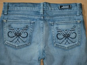 Rock & Republic Swarovski Jeans Chrissy Crop * Gr. 27