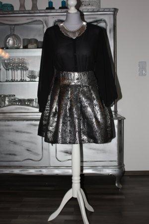 Rock RESERVED silber 36 groß Partyrock for Kleid