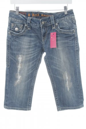 Rock Revival 3/4 Jeans blau Used-Optik