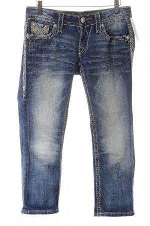Rock Revival 3/4 Jeans stahlblau-weiß Jeans-Optik