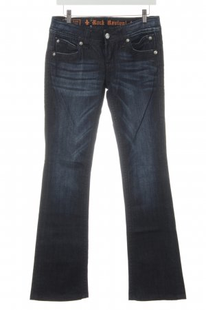 Rock Revival Boot Cut Jeans dark blue simple style