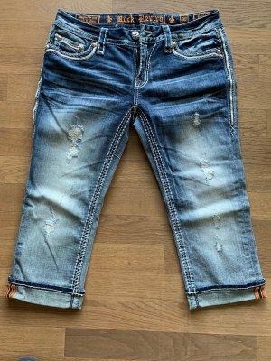 Rock Revival 3/4-jeans blauw Katoen