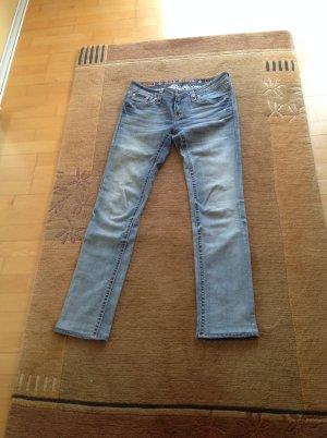 Rock Revival Low Rise Jeans steel blue cotton