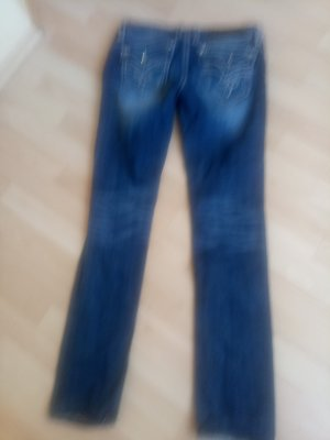 Rock Revival Boot Cut Jeans blue cotton