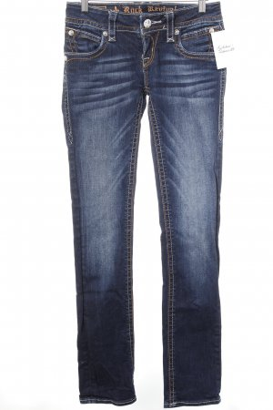 Rock Revival Jeans a sigaretta blu scuro stile casual