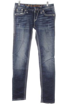 Rock Revival Skinny Jeans dunkelblau Jeans-Optik
