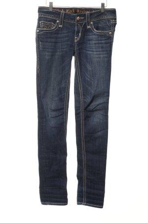 Rock Revival Skinny Jeans stahlblau Casual-Look