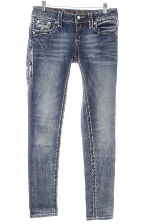 Rock Revival Skinny Jeans stahlblau Jeans-Optik