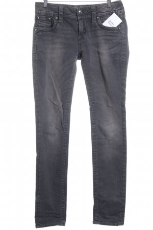 Rock Revival Slim Jeans weiß-grau Biker-Look