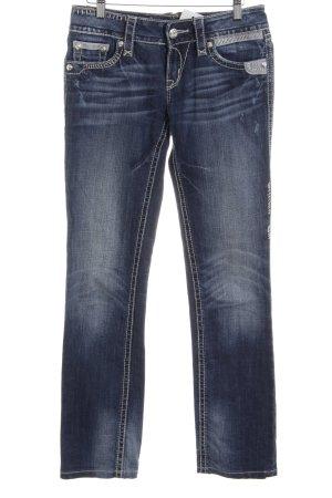 Rock Revival Straight-Leg Jeans blau Used-Optik