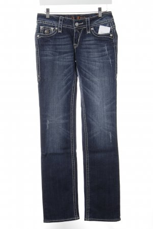 Rock Revival Straight-Leg Jeans wollweiß-dunkelblau Casual-Look