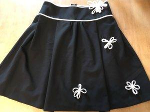 Rinascimento High Waist Skirt black-white