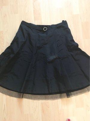 H&M Gonna in seta nero-argento