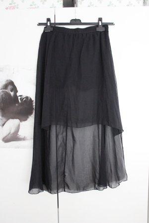 Bershka Pleated Skirt black
