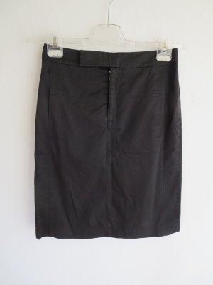 Filippa K Falda de talle alto negro tejido mezclado