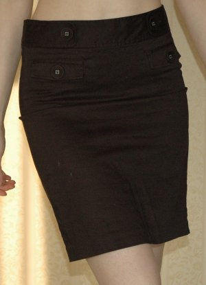 Rock schwarz GAP Gr. 2 36 S retro knielang Pencilskirt gothic Rockabilly