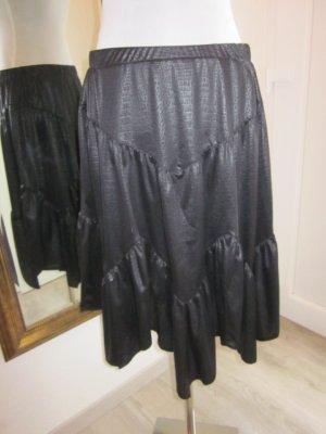 Rock schwarz Lederimitat Gummi Gr XL