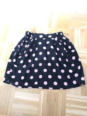 Rock schwarz mit rosa Punkten Gr. 38 H&M