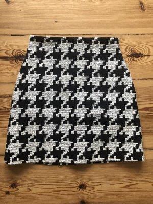 H&M High Waist Skirt white-black