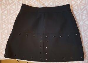Zara Basic Rok zwart-zilver