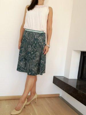 Esprit Silk Skirt white-petrol