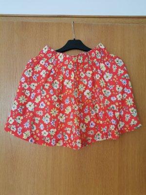 H&M Skater Skirt yellow-red