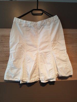 Amisu Falda midi blanco-blanco puro Algodón