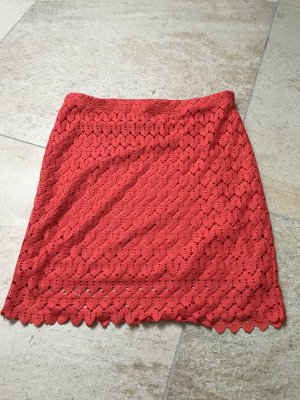Lace Skirt brick red-red