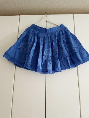 Kanten rok blauw