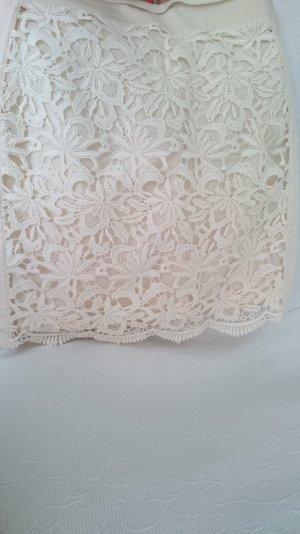 Mango Midi Skirt natural white