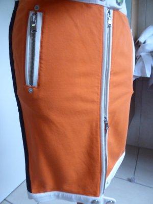 Pianura Studio Falda de tubo naranja neón tejido mezclado