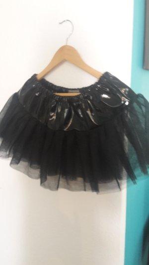 Rock Tüll  mit Lack Sexy Tüllrock Petticoat Unterrock