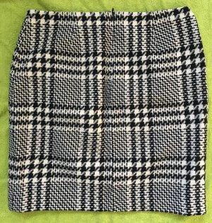 Rock tweed Muster schwarz weiß Hallhuber