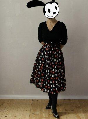 Falda circular multicolor Algodón