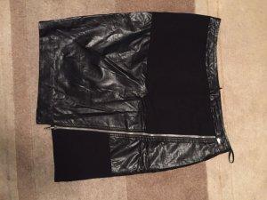 Airfield Falda de lana negro lana merina