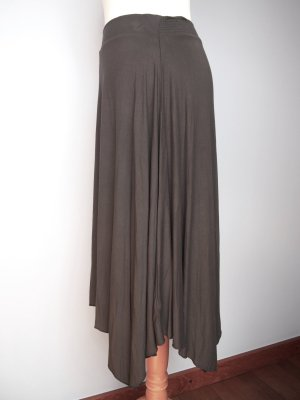 American Eagle Outfitters Asymmetry Skirt dark grey-grey viscose