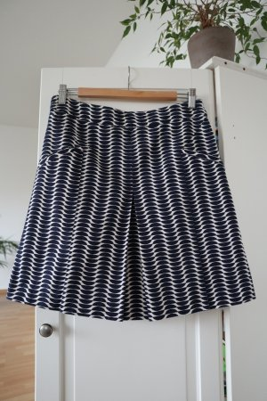 Boden Falda de talle alto blanco puro-azul oscuro Algodón