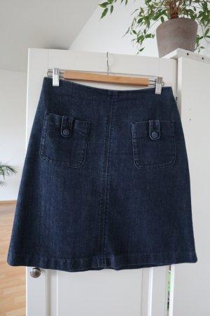 Boden Falda de talle alto azul oscuro Algodón