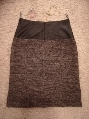 Comma Jupe crayon noir-gris laine vierge
