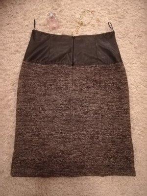 Comma Pencil Skirt black-grey new wool