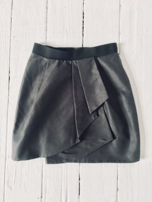 COS Miniskirt anthracite cotton
