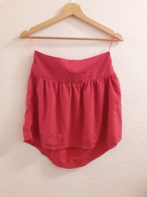 Fishbone Asymmetry Skirt raspberry-red-pink