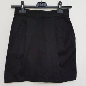 H&M Falda de talle alto negro