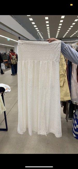 Hollister Falda larga blanco